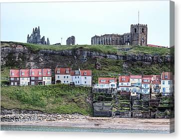 Port Town Canvas Print - Whitby - England by Joana Kruse