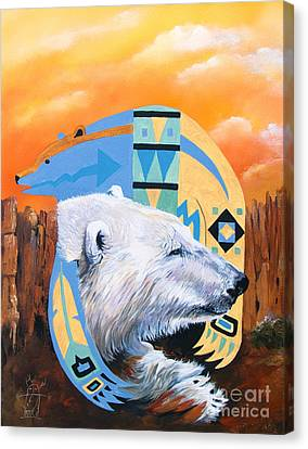 White Bear Goes Southwest Canvas Print
