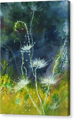 White Flowers 2 Canvas Print by Anil Nene