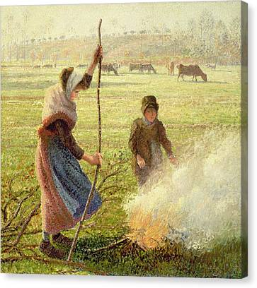 White Frost Canvas Print by Camille Pissarro