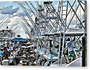 White Marlin Open Canvas Print by Carey Chen