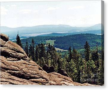Canvas Print featuring the photograph White Mountains Of Arizona by Juls Adams