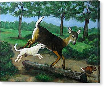 White Tails Canvas Print by Patrick RANKIN