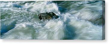 White Water On Payette River In Nez Canvas Print by Panoramic Images