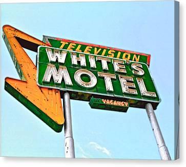 White's Motel Canvas Print by Matthew Bamberg