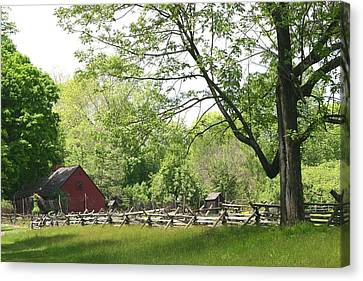 Wick Farm At Jockey Hollow Canvas Print by Living Color Photography Lorraine Lynch