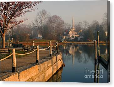 Wickford Harbor Canvas Print by Jim Beckwith