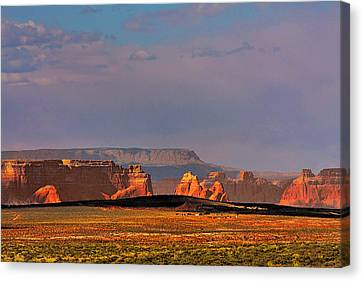Wide-open Spaces - Page Arizona Canvas Print by Christine Till
