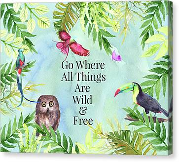 Canvas Print featuring the digital art Wild And Free by Colleen Taylor