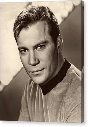William Shatner As Captain Kirk 1967 Canvas Print by Mountain Dreams