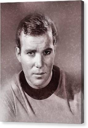 William Shatner By John Springfield Canvas Print by John Springfield