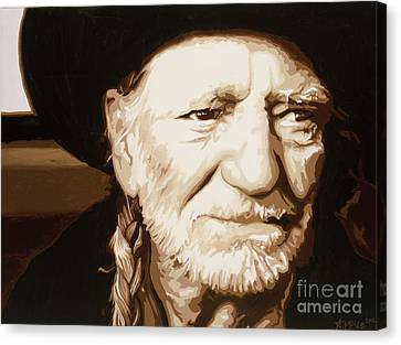 Willie Nelson Canvas Print