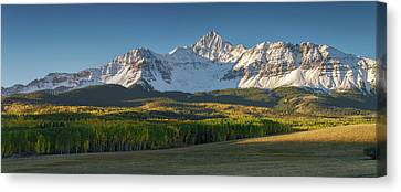 Canvas Print featuring the photograph Wilson Peak Panorama by Aaron Spong