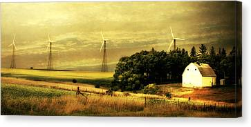 Wind Turbines Canvas Print by Julie Hamilton