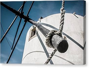 Windmill Canvas Print by Carlos Caetano