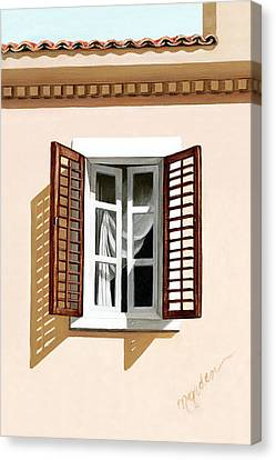 Window Above Athens Canvas Print by Mary Grden's Baywood Gallery