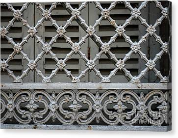 Grill Canvas Print - Window Grill In Toulouse by Elena Elisseeva