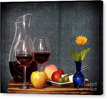 Canvas Print - Wine And Fruit by Cecil Fuselier