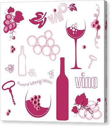 Wine Background Pattern Canvas Print by Serena King