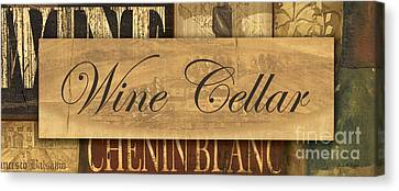 Wine Cellar Collage Canvas Print by Grace Pullen
