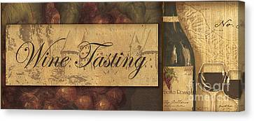 Wine Tasting Collage  Canvas Print