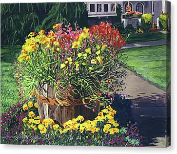 Canvas Print - Winebarrel Garden by David Lloyd Glover
