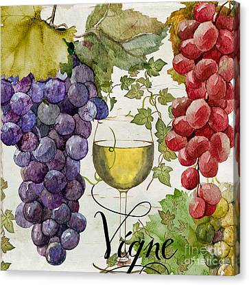 Purple Grapes Canvas Print - Wines Of Paris II by Mindy Sommers