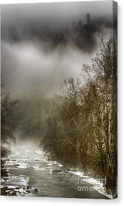 Nicholas County Canvas Print - Winter Along Cherry River by Thomas R Fletcher