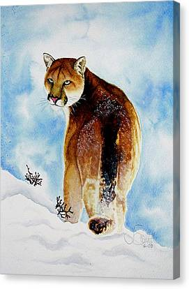 Winter Cougar Canvas Print