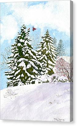 Winter Delight Canvas Print by Melly Terpening