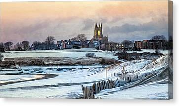 Canvas Print featuring the photograph Winter Dusk by Robin-Lee Vieira