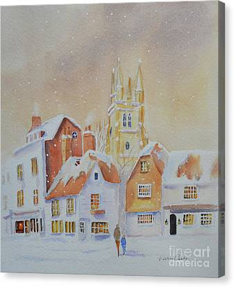 Winter In Tenterden Canvas Print by Beatrice Cloake