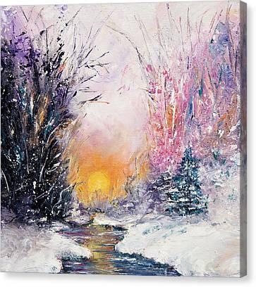 Winter Landscape Canvas Print by Boyan Dimitrov
