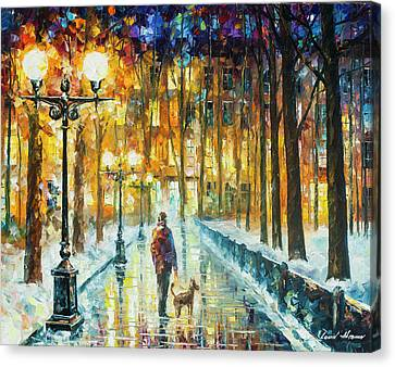 Winter Light  Canvas Print by Leonid Afremov