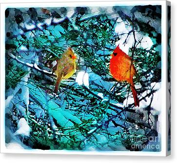 Winter Love Canvas Print