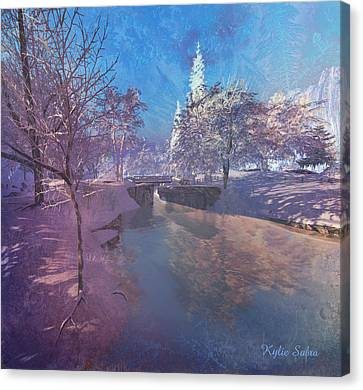 Winter Morning At South Farthing Canvas Print
