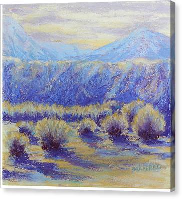 Winter Morning Riverbend Canvas Print by Becky Chappell