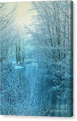 Winter River Canvas Print by Svetlana Sewell