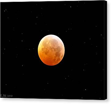Winter Solstice Lunar Eclipse 2010 Canvas Print by Kevin Munro