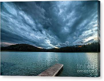Canvas Print featuring the photograph Winter Storm Clouds by Thomas R Fletcher
