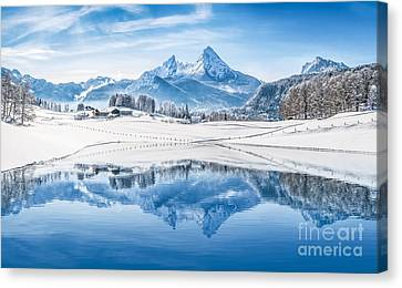 Winter Wonderland In The Alps Canvas Print by JR Photography