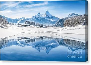Winter Wonderland In The Alps Canvas Print