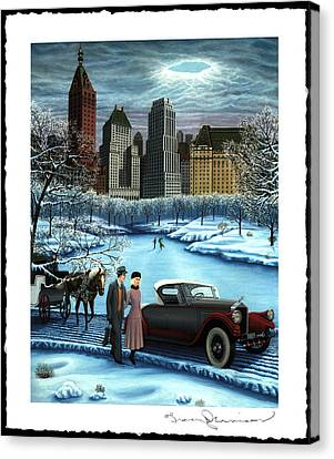 Winter Wonderland Canvas Print by Tracy Dennison