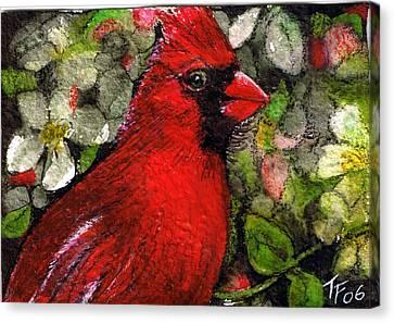Winterbird Canvas Print by Terri Kilpatrick
