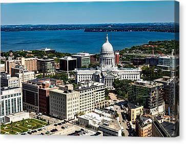 Wisconsin State Capitol - Madison Canvas Print by Mountain Dreams