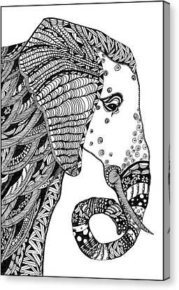 Wise Elephant Canvas Print