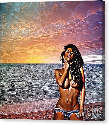 Wish You Were Here Canvas Print by The DigArtisT