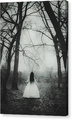 Witch Canvas Print by Art of Invi