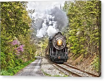 Wmsr Steam Engine 734  Canvas Print by Jeannette Hunt
