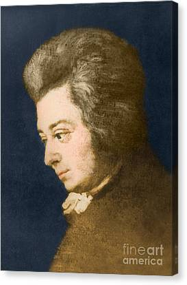 Wolfgang Amadeus Mozart, Austrian Canvas Print by Omikron